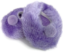 Fuzzy Slippers-Purple