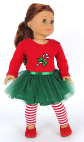 Candy Cane Tutu Dress & Striped Leggings