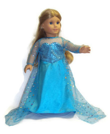 Frozen Inspired Elsa Gown with Sparkling Train