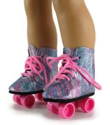 Rollerskates-Rainbow Glitter
