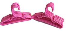 Hangers-Pink Plastic 2 Dozen