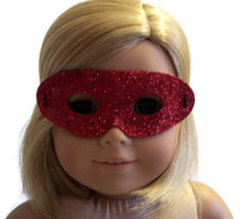 Halloween Mask-Red Glitter