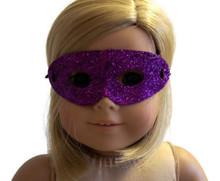 Halloween Mask-Purple Glitter