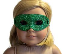 Halloween Mask-Green Glitter