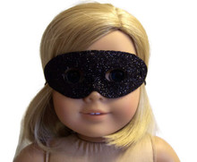 Halloween Mask-Black Glitter