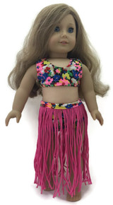 Hawaiian Hula Swimsuit Set-Pink
