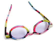 Sunglasses-Colorful Rimmed with Purple Tinted Lense