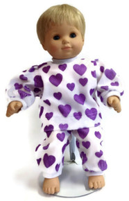 Pajamas-Purple Heart Print