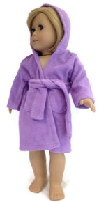 Hooded Beach Robe-Lavender