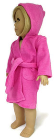 Hooded Beach Robe-Hot Pink