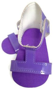 T-Strap Sandals-Purple