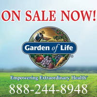 Special Discounts and Coupons on Garden of Life Products that change each month. Call 888-244-8948