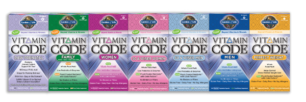 Garden of Life Vitamin Code Vitamins Raw, Gluten Free, Vegan, Food-Created Nutrient Vitamins!