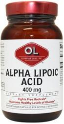 Alpha Lipoic Acid 400 mg 60 Capsule