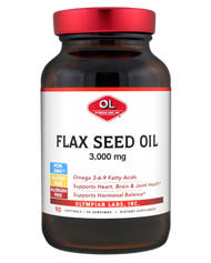Flax Seed Oil 3000 mg 90 Softgels