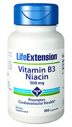 Vitamin B3 Niacin 500 mg 100 capsules