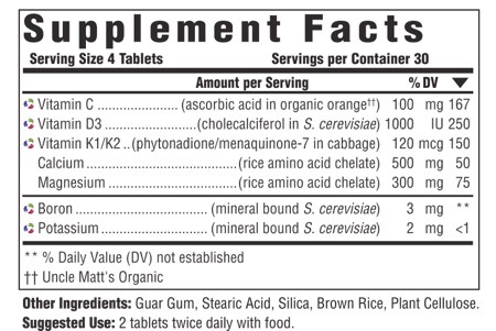 MegaFood Bone Health 120 Tablets $41.73  Supplement Facts