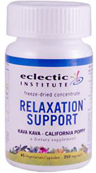 Eclectic Institute Relaxation Support 45 Veggie Capsules