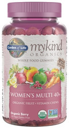 MyKind Organics Womens 40 Plus Gummy Multi 120 Fruit Chews