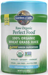 Perfect Food Raw Organic Wheat Grass Juice 120 gram powder