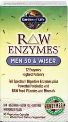 RAW Enzymes Men 50 and Wiser 90 Capsules