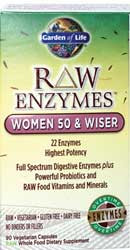 RAW Enzymes Women 50 and Wiser 90 Capsules