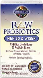 RAW Probiotics Men 50 and Wiser 90 Capsules