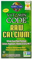 Vitamin Code Raw Calcium 120 Capsules