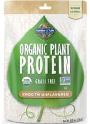 Organic Plant Protein Smooth Unflavored 226 gram