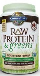 Raw Protein and Greens Chocolate 611 Grams Powder