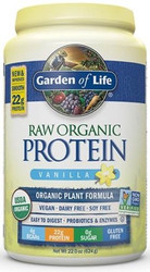 Raw Organic Protein Vanilla 624 Grams Powder