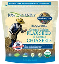 Raw Organics 12 ounce Organic Flaxseed and Chia Seed