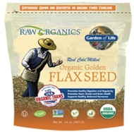 Raw Organics 12 ounce Organic Golden Flaxseed