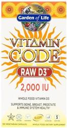 Vitamin Code RAW D3 2000 IU 120 Capsules
