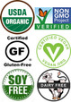 Garden of Life Raw Protein certifications