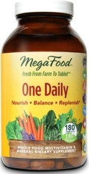 One Daily by MegaFood is Wholesome nourishment for life in a convenient one tablet daily formula.