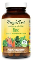 MegaFood Zinc is an all natural whole food form of this essential mineral
