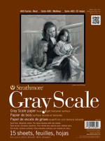 """Strathmore - Gray Scale Assorted Tints Tape Pad - 400 Series - 9""""x12"""" - 15 Sheets - 20LB"""