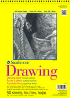 "Strathmore - Drawing Medium Surface Spiral Top - 300 Series - 9""x12"" - 50 Sheets - 70LB"