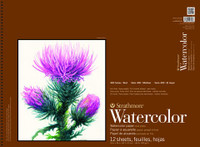 "Strathmore - Watercolor Cold Press Spiral Top - 400 Series - 12""x18"" - 12 Sheets - 140LB"
