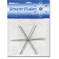 WIRE SNOWFLAKE 4 1/2 INCHD .8MM DIA- 7PCS/CARD