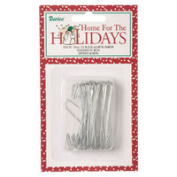 Ornament Hangers - Silver - 2.5 inches - 50 pieces