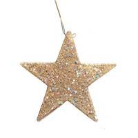 Flat Glitter Star - Gold - 2 inches - 12 pieces