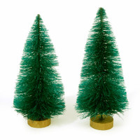 Sisal Tree - Green Christmas - 4 inches - 2 pieces