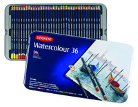 DERWENT WATERCOLOUR PENCIL 36 COLOR TIN SET