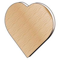 Wood Hearties - Pre Pack - 1-1/2 x 1/8 inch - 7 pieces