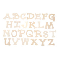 Wood Letters - Full Alphabet and Extras - Casual Day Font - 1.75 inches - 36 pieces