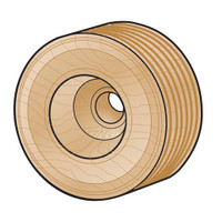 Wood Tread Wheel - 2-1/2 inches - 2 pieces