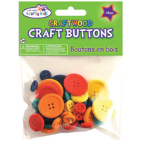Colored – Craftwood Craft Buttons Assorted 40/Pkg