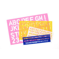 Stencil Combo Set - Letters - Assorted Sizes - 4 pieces